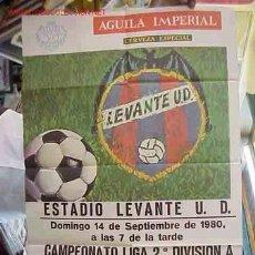 Coleccionismo deportivo: CARTEL FUTBOL LEVANTE U.D. - ELCHE C.F. - AÑO 1980. Lote 21239998