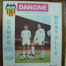 Colecionismo desportivo: CARTEL DE FUTBOL - 8º DE FINAL DE RECOPA - VALENCIA C.F. - F.C. ESTRELLA DE BUCAREST - AÑO 1967. Lote 162569097