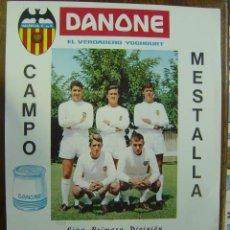 Colecionismo desportivo: CARTEL DE FUTBOL - LIGA - VALENCIA C.F. - HERCULES C.F. Y C.D. CASTELLON - AÑO 1966. Lote 117343768