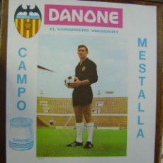 Coleccionismo deportivo: CARTEL DE FUTBOL - LIGA - VALENCIA C.F. - REAL MADRID Y SEVILLA C.F. - AÑO 1967. Lote 118247419