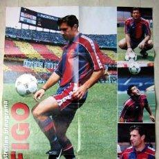 Coleccionismo deportivo: FIGO - BARÇA 1995. CARTEL SPORT 80X60 CM.. Lote 23457658