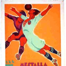 Coleccionismo deportivo: CARTEL MESTALLA FUTBOL VALENCIA - SELECCION INGLESA 1929 ,ORIGINAL , RB. Lote 132265547
