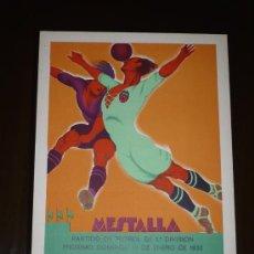 Coleccionismo deportivo: PARTIDO VALENCIA C.F.- F.C. BARCELONA AÑO 1933 TAMAÑO 345X240 DIBUJA TORMO. Lote 5550928