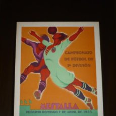 Coleccionismo deportivo: PARTIDO VALENCIA C.F.- REAL MADRID AÑO 1931 TAMAÑO 345X240 DIBUJA TORMO. Lote 5550969