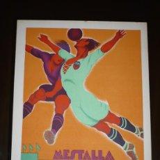 Coleccionismo deportivo: PARTIDO VALENCIA C.F.- ESCUADRA INGLESA AÑO 1929 TAMAÑO 345X240 DIBUJA TORMO. Lote 5551027
