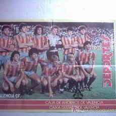 Coleccionismo deportivo: CARTEL FUTBOL VALENCIA C F AÑOS 70 - 80 MARIO KEMPES,LOBO DIARTE.... Lote 27039990