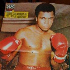 Coleccionismo deportivo: CASSIUS CLAY ( MOHAMED ALÍ ) PÓSTER DE AS COLOR Nº 26. Lote 26694615