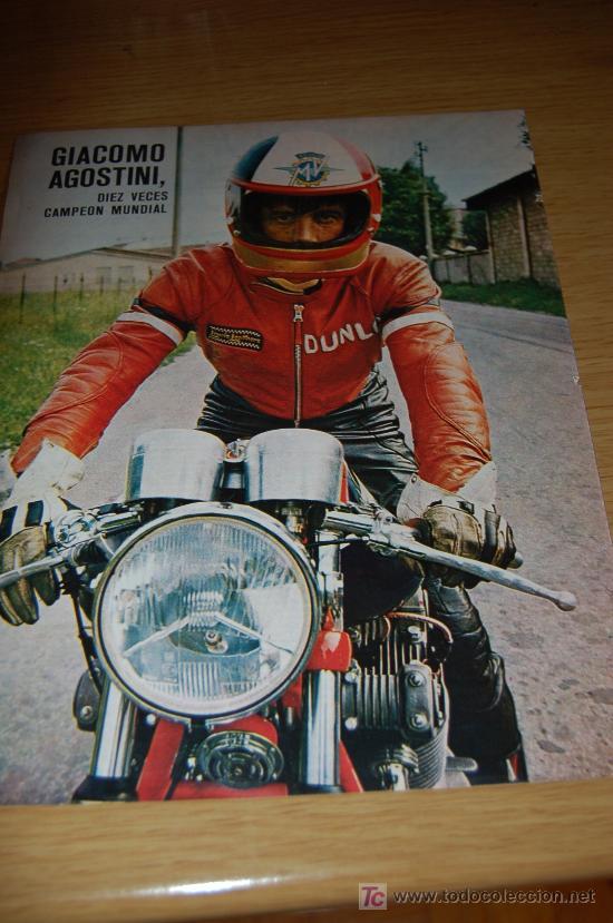GIACOMO AGOSTINI. PÓSTER DE 1971 (Coleccionismo Deportivo - Carteles de Fútbol)