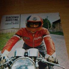 Coleccionismo deportivo: GIACOMO AGOSTINI. PÓSTER DE 1971. Lote 8452508