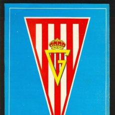 Coleccionismo deportivo: CARTEL DEL REAL GIJON. CON HISTORIAL DEPORTIVO EN EL REVERSO.. Lote 13495713