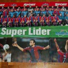 Coleccionismo deportivo: BARÇA : PÓSTER GIGANTE DE LA TEMPORADA 97-98. Lote 27226217
