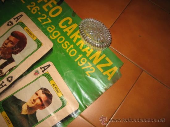 Coleccionismo deportivo: CARTEL XVIII TROFEO CARRANZA CADIZ 26-27 AGOSTO 1972 POKER DE ASES - Foto 5 - 24400111