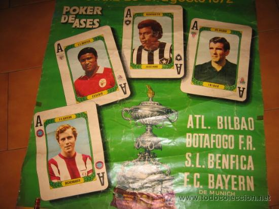 Coleccionismo deportivo: CARTEL XVIII TROFEO CARRANZA CADIZ 26-27 AGOSTO 1972 POKER DE ASES - Foto 6 - 24400111