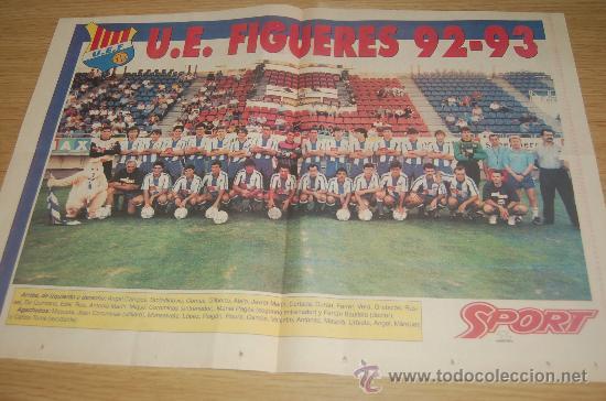 UE. FIGUERES . PÓSTER DE LA TEMPORADA 92-93 (Coleccionismo Deportivo - Carteles de Fútbol)