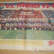 Coleccionismo deportivo: UE. FIGUERES . PÓSTER DE LA TEMPORADA 92-93. Lote 20512088