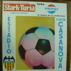 Coleccionismo deportivo: CARTEL DE FUTBOL - 1ª DIVISION ENTRE EL VALENCIA C.F. - REAL ZARAGOZA, R.C.D. CORUÑA Y ELCHE CF 1970. Lote 97980607