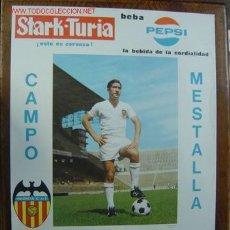Coleccionismo deportivo: CARTEL DE FUTBOL - LIGA 1ª DIVISION ENTRE EL VALENCIA C.F. - REAL ZARAGOZA Y PONTEVEDRA C.F.. Lote 21337737