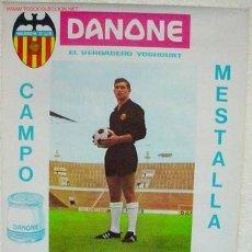 Coleccionismo deportivo: CARTEL FUTBOL VALENCIA C.F. REAL MADRID Y SEVILLA 1967. Lote 188792706