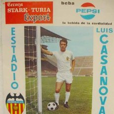 Coleccionismo deportivo: CARTEL FUTBOL VALENCIA C.F S. K. KSK BEVEREN WAAS , BELGICA , COPA DE FERIAS 1970. Lote 262361035