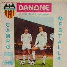 Coleccionismo deportivo: CARTEL FUTBOL VALENCIA C.F. ESTRELLA DE BUCAREST , RUMANIA , OCTAVOS FINAL RECOPA 1967. Lote 76058279