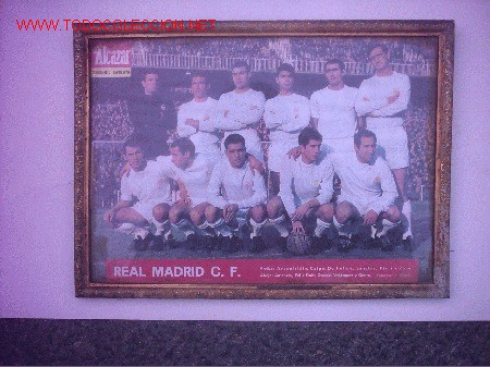 REAL MADRID C F ARAGISTAIN DE FELIPE SANCHIS PIRRI ZOCO AMANCIO FELIZ RUIZ GROSSO VELAZQUEZ (Coleccionismo Deportivo - Carteles de Fútbol)
