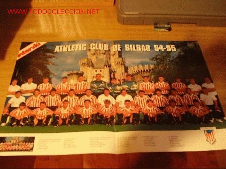 ATHLETIC DE BILBAO: GRAN POSTER DE LA TEMPORADA 1994-95 (Coleccionismo Deportivo - Carteles de Fútbol)
