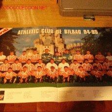 Coleccionismo deportivo: ATHLETIC DE BILBAO: GRAN POSTER DE LA TEMPORADA 1994-95. Lote 27111641