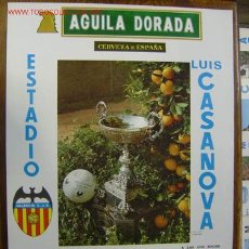 Coleccionismo deportivo: CARTEL DE FUTBOL - AÑO 1977 Y TROFEO NARANJA - VALENCIA C.F.-HONVED S.E.-BORUSIA MONCHENGLADBACH. Lote 98746674