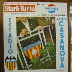 Coleccionismo deportivo: CARTEL DE FUTBOL - LIGA 1ª DIVISION - VALENCIA C.F. - CSKA SOFIA - C.D. SABADELL - AÑO 1969. Lote 129145632