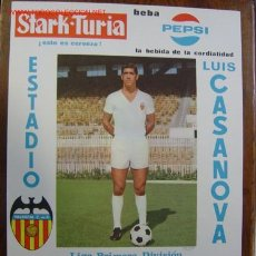 Coleccionismo deportivo: CARTEL DE FUTBOL - LIGA 1ª DIVISION - VALENCIA C.F. - SEVILLA C.F. - AÑO 1969 BARRACHINA. Lote 98761020