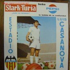 Coleccionismo deportivo: CARTEL DE FUTBOL - 1ª DIVISION - VALENCIA C.F.-PONTEVEDRA C.F., REAL SOCIEDAD - AÑO 1969. Lote 98761043