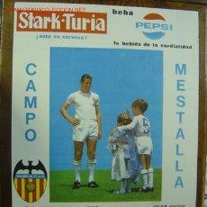 Coleccionismo deportivo: HOMENAJE A MANOLO MESTRE - VALENCIA C.F. - ROYAL STANDARD DE LIEJA (BELGICA) AÑO 1969 - PEPSI. Lote 167006424
