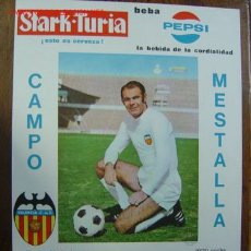 Coleccionismo deportivo: CARTEL DE FUTBOL - AÑO 1969 - VALENCIA C.F. - RACING CLUB DE BUENOS AIRES, ARGENTINA, ANTON. Lote 188643438