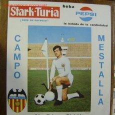 Coleccionismo deportivo: CARTEL DE FUTBOL - LIGA 1ª DIVISION - VALENCIA C.F. - CORDOBA C.F. Y C.D. SABADELL - AÑO 1969. Lote 98761008