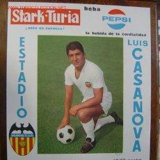 Coleccionismo deportivo: CARTEL DE FUTBOL - XII COPA DE FERIAS - VALENCIA C.F. - SLAVIA F.C. (BULGARIA) - AÑO 1969. Lote 90415575
