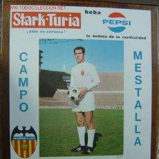 Coleccionismo deportivo: CARTEL DE FUTBOL - LIGA 1ª DIVISION - VALENCIA C.F. - AT. DE MADRID - AÑO 1969. Lote 21488167