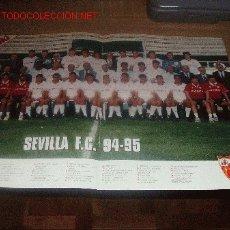 Coleccionismo deportivo: SEVILLA CF: GRAN PÓSTER DE LA TEMPORADA 94-95 ( PLANTILLA ). Lote 20959726