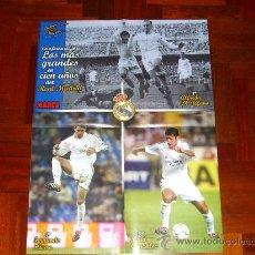 Coleccionismo deportivo: REAL MADRID, DI STEFANO, RAUL, HIERRO, CENTENARIO MADRID. Lote 10245318