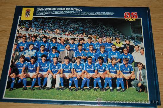 REAL OVIEDO : MINIPÓSTER DE LA TEMPORADA 90-91 (Coleccionismo Deportivo - Carteles de Fútbol)