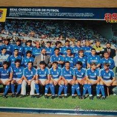 Coleccionismo deportivo: REAL OVIEDO : MINIPÓSTER DE LA TEMPORADA 90-91. Lote 194752127