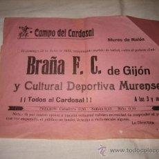 Coleccionismo deportivo: CAMPO DEL CARDOSAL MUROS DE NALON BRAÑA F.C-CULTURAL DEPORTIVA MURENSE 1933. Lote 11634153