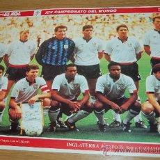 Coleccionismo deportivo: SELECCIÓN DE FÚTBOL DE INGLATERRA : LÁMINA DE 1990. Lote 27013450