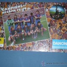Coleccionismo deportivo - CARTEL DE F.C. BARCELONA TEMPORADA 78-79 CAMPIONS RECOPA DANONE - 10835116