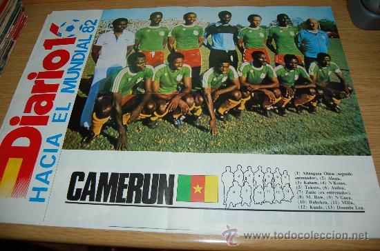 SELECCIÓN DE FÚTBOL DE CAMERÚN . PÓSTER DE 1982 (Coleccionismo Deportivo - Carteles de Fútbol)
