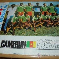Coleccionismo deportivo: SELECCIÓN DE FÚTBOL DE CAMERÚN . PÓSTER DE 1982. Lote 27084925
