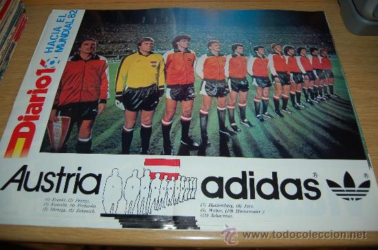 SELECCIÓN DE FÚTBOL DE AUSTRIA : PÓSTER DE 1982 (Coleccionismo Deportivo - Carteles de Fútbol)
