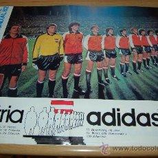 Coleccionismo deportivo: SELECCIÓN DE FÚTBOL DE AUSTRIA : PÓSTER DE 1982. Lote 26535177