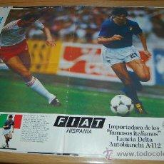 Coleccionismo deportivo: SELECCIÓN DE FÚTBOL DE ITALIA : PÓSTER DE PAOLO ROSSI, LA ESTRELLA DEL MUNDIAL 82. Lote 26271065