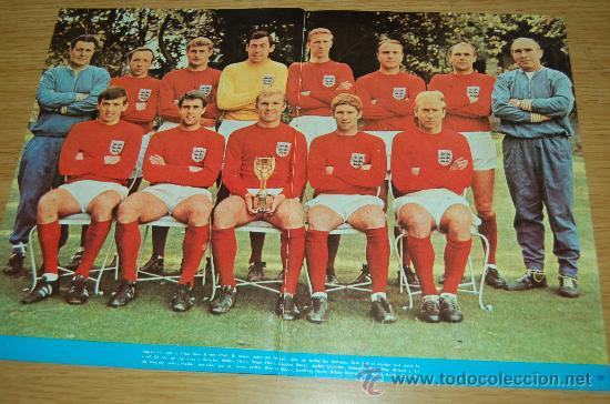 POSTER DE INGLATERRA, EQUIPO CAMPEÓN DEL MUNDO DE 1966 (Coleccionismo Deportivo - Carteles de Fútbol)