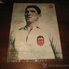 Coleccionismo deportivo: JUAN RAMON DEFENSA IZQUIERDO DEL VALENCIA LAMINA DEL MARCA. Lote 11449878